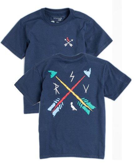 Camiseta Manga Curta Estampa Flechas Costas Marinho - Reserva Mini