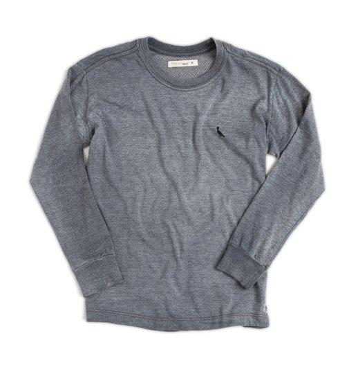 Camiseta Manga Longa Cinza - Reserva Mini