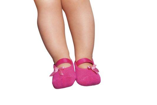 Meia Sapatilha com Lacinho Boneca Pink - Puket