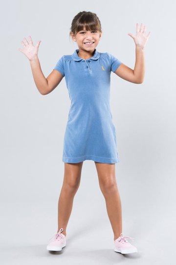 Vestido Polinho Azul Infantil - Reserva Mini