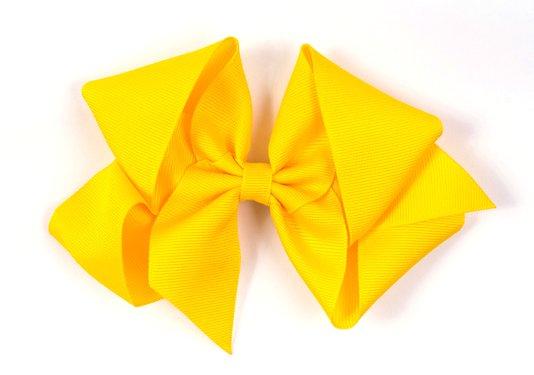Laço de Tecido Tamanho GG 12cm Amarelo - Gumii