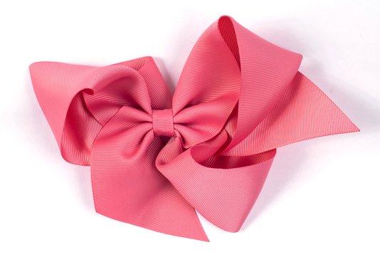 Laço de Tecido Vintage Vogue Tamanho XGG 18cm Rosa - Gumii
