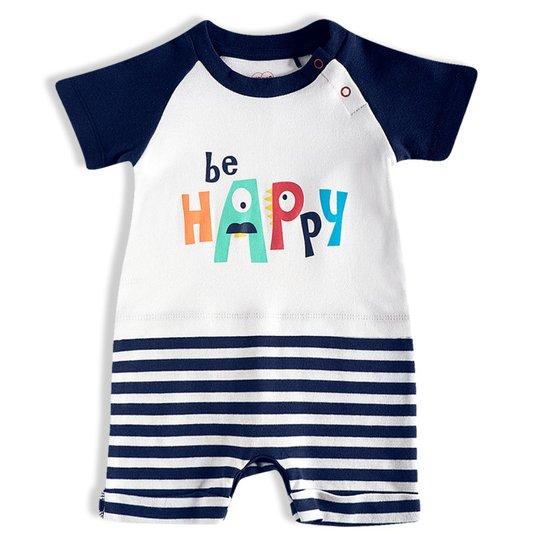 Macacão Curto Be Happy Bebê