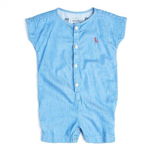 Macacão Curto Jeans Confortável Bebê - Reserva Mini