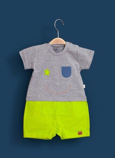 Macacão Curto Neon Bebê