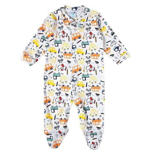 Macacão Longo Bebê Automóveis