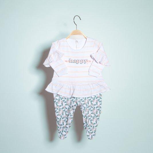 Macacão Longo Happy Bebê