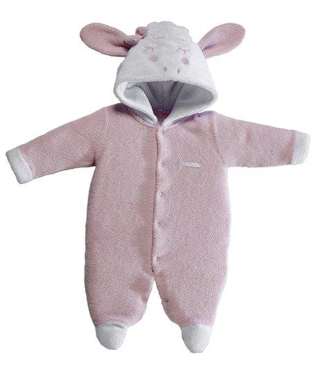 Macacão Longo Ovelha Rosa Bebê e Infantil - Grow Up