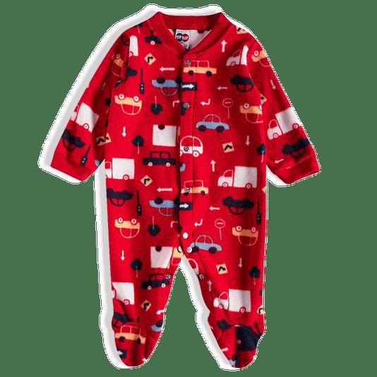 Macacão Longo Soft Vermelho Carros Bebê - Tip Top