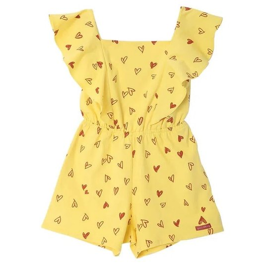 Macacão Love Amarelo Infantil