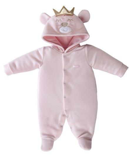Macacão Soft Ursa Princesa Rosa - Grow Up