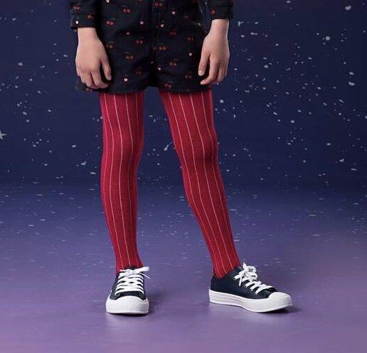 Meia Calça Lisa Vermelha Infantil - Que te Encante