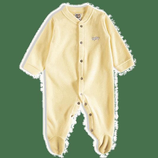 Pijama Macacão Longo Soft Amarelo Infantil - Tip Top