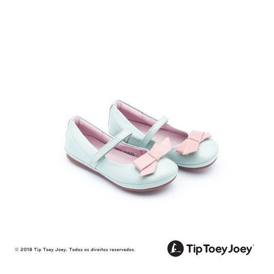 Sapatilha Laço Little Ribbon Patent Aqua Rosa e Azul 22 ao 26 Infantil - Tip Toey Joey