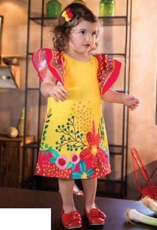 Vestido Amarelo Infantil - Precoce