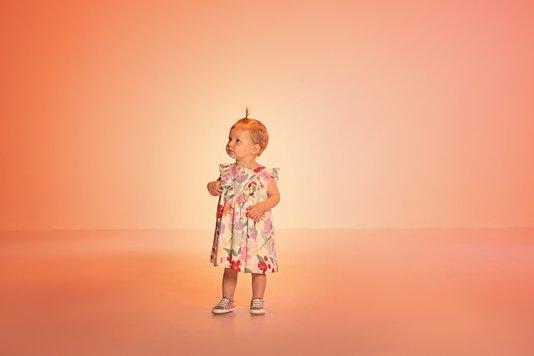 Vestido Cora Floral Bebê