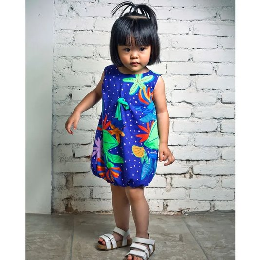 Vestido Frutos do Mar Toddler - Green