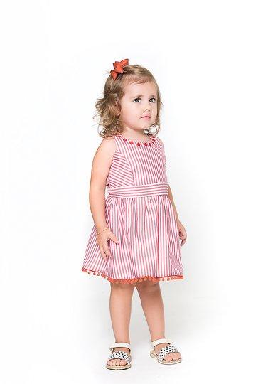 Vestido Girl Vermelho Bebê e Infantil - Nutti