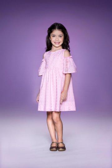 Vestido Lavanda Rosa Infantil - Que te Encante