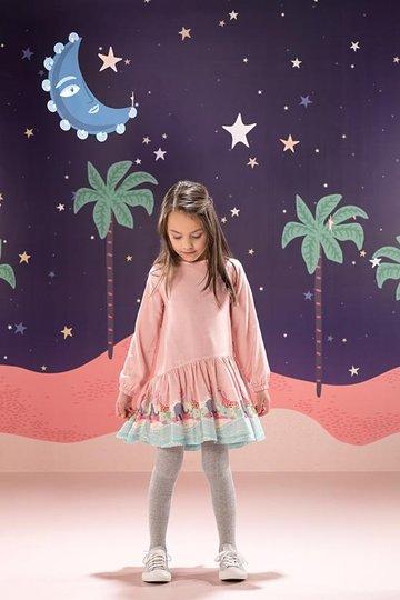 Vestido Manga Longa Gwen Bichos Infantil - Que te Encante