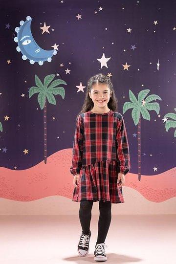 Vestido Manga Longa Gwen Xadrez Infantil - Que te Encante