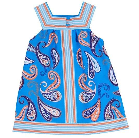 Vestido Regata Estampa Chá Azul Toddler - Green