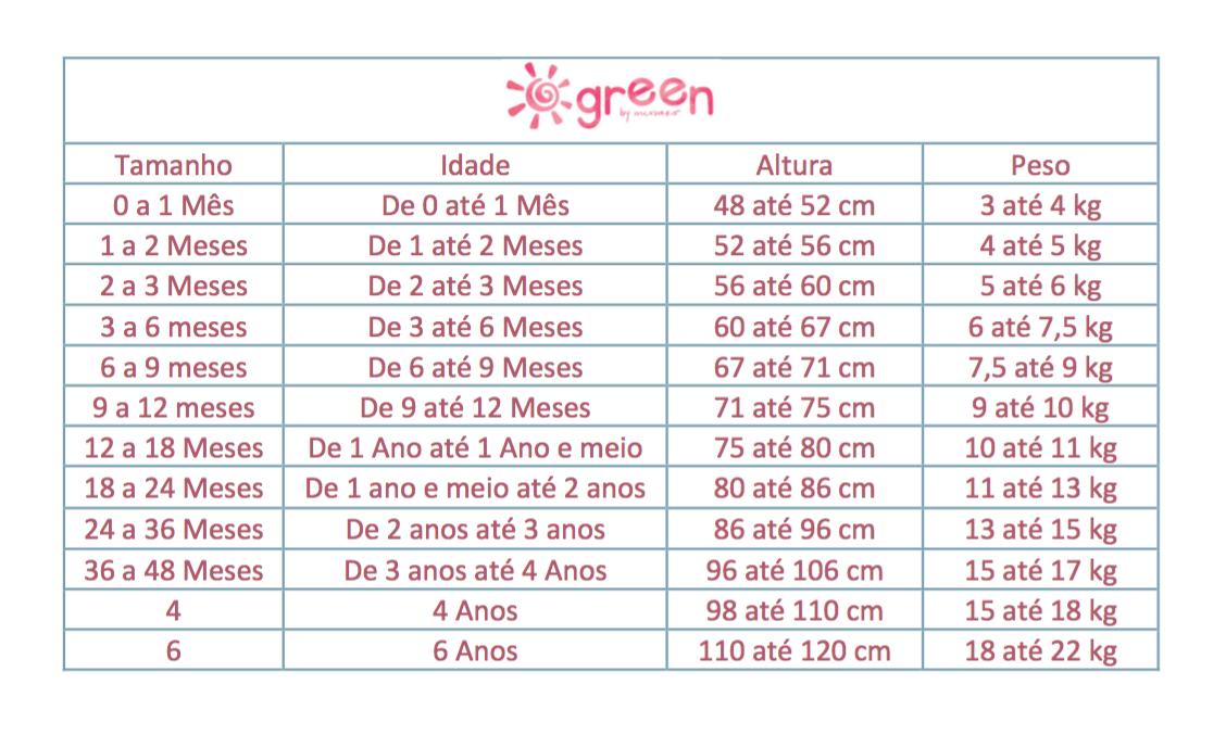 Conjunto Calça Merci e Bata Manga Longa Estampa La Vie Bebê - Green