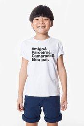 Camiseta Infantil Filho Amigo Parceiro Camarada Meu Pai - Reserva