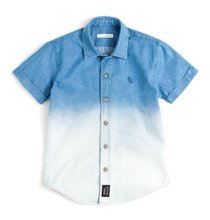 Camisa Jeans Calhau Manga Curta Infantil - Reserva Mini
