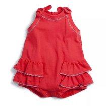 0d2cffb7ed Macacão Curto Banho de Sol Afeto com Babados Vermelho Bebê -