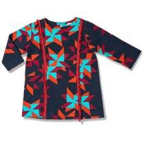 96c952964 Vestido Manga Longa Aborigenes Azul Marinho Toddler - Green By Missako