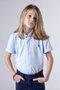 Camisa Manga Curta Oxford Azul Infantil - Reserva Mini