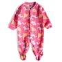 Pijama Macacão Longo Soft Rosa Dinos Infantil - Tip Top