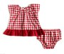 Vestido Xadrez Vermelho Bebê